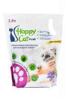 Наполнитель Happy Cat plus силикагель лаванда для кошек 3,8 л 1,7 кг