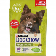 Dog Chow Adult Ягненок для собак  2 кг + 500 г