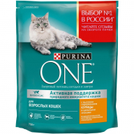 Purina One Курица/Цельные злаки для кошек