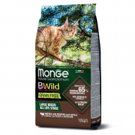 Monge BWild Cat Grain Free Буйвол для крупных кошек 1,5 кг
