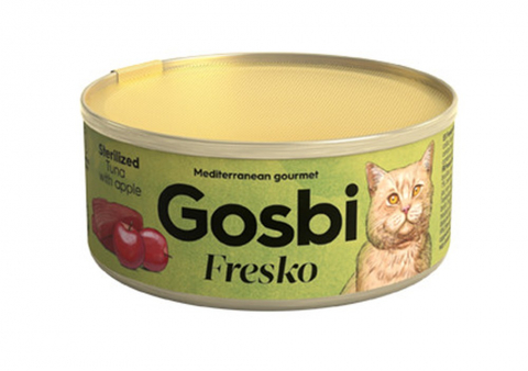 Gosbi Fresko Sterilised Тунец/яблоко консервы для кошек 70 г 1