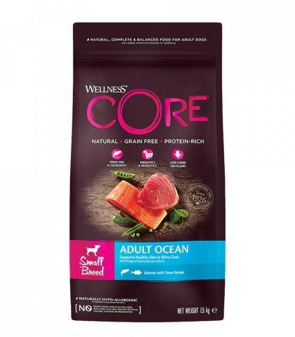 Wellness Core Small Breed Adult Лосось/Тунец для собак 1,5 кг 1